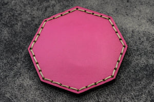 Pink Leather Magnetic Tidy Octagon - Galen Leather