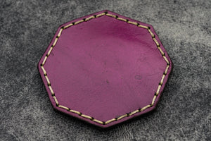 Purple Leather Magnetic Tidy Octagon - Galen Leather