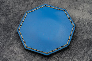 Blue Leather Magnetic Tidy Octagon - Galen Leather