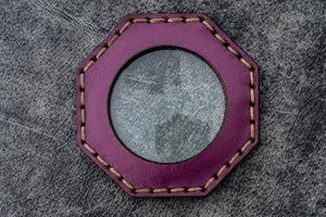 Purple Leather Magnifying Glass Octagon - Galen Leather