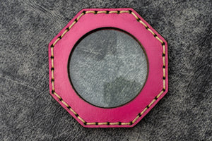 Pink Leather Magnifying Glass Octagon - Galen Leather