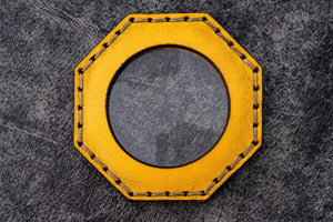 Yellow Leather Magnifying Glass Octagon - Galen Leather