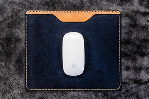 Leather Mouse Pad - Navy Blue