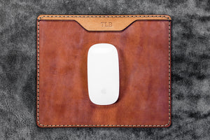 Leather Mouse Pad - Crazy Horse Tan