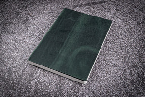 Leather Notebook B6 - Tomoe River Paper - Crazy Horse Forest Green-Galen Leather