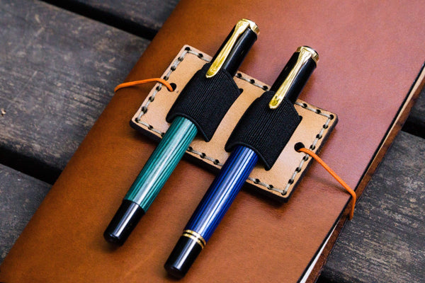 Leather Pen Holder for Traveler's Notebooks-Galen Leather