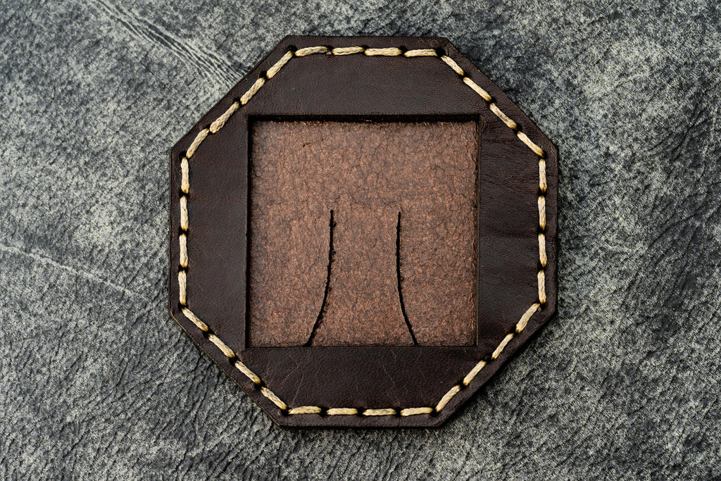 Leather Photo Frame Octagon-Galen Leather