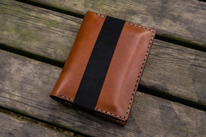 Leather Pocket Moleskine Journal Cover - Brown-Galen Leather