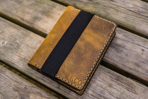 Leather Pocket Moleskine Journal Cover - Crazy Horse Brown-Galen Leather