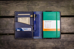 Leather Pocket Moleskine Journal Cover - Navy Blue - GalenLeather - 1