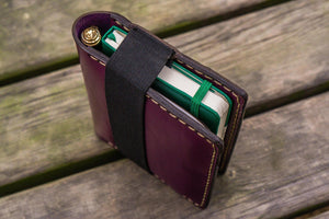 Leather Pocket Moleskine Journal Cover - Purple-Galen Leather