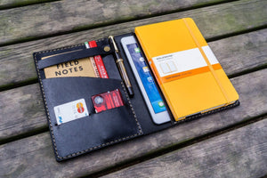 Leather Rhodia A5 Notebook & iPad Mini Cover - Black-Galen Leather