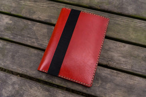 Leather Rhodia A5 Notebook & iPad Mini Cover - Red-Galen Leather