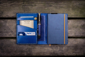 Leather Rhodia A6 Notebook Cover - Blue - GalenLeather - 1