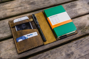 Leather Rhodia A6 Notebook Cover - Crazy Horse-Galen Leather