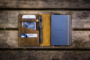 Leather Rhodia A6 Notebook Cover - Crazy Horse - GalenLeather - 1