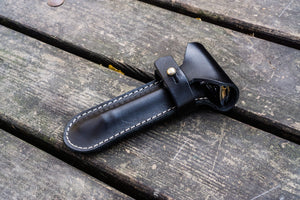 Leather Razor Case - Black-Galen Leather