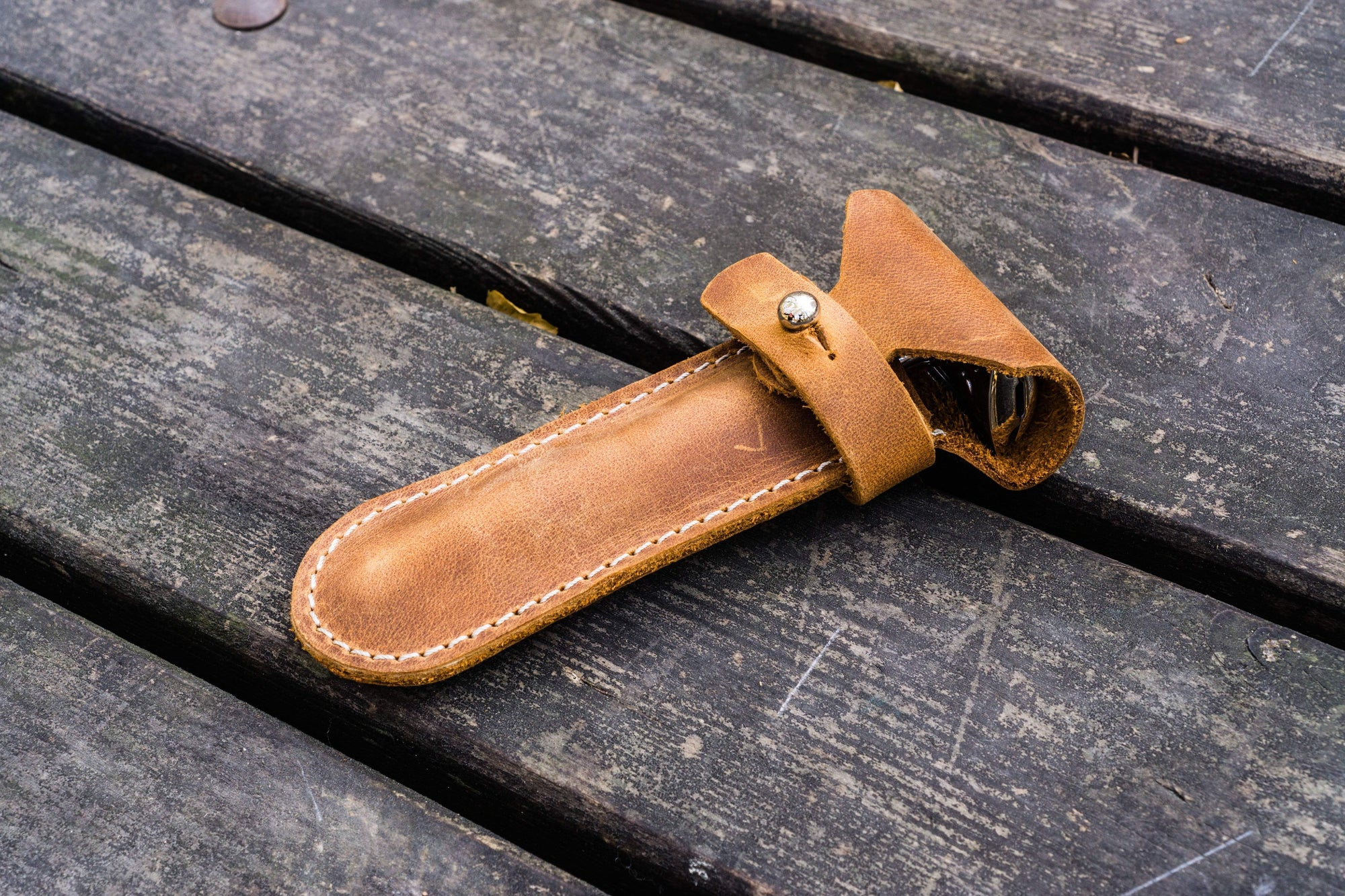 Leather Razor Case - Crazy Horse Brown-Galen Leather