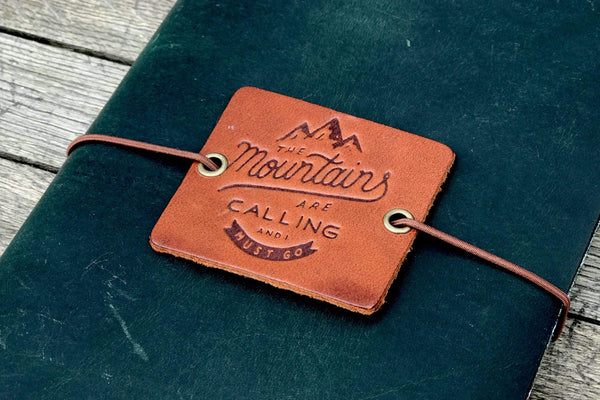 Leather Tag for Traveler's Notebook- A5 - Regular - Passport - Pocket Sizes