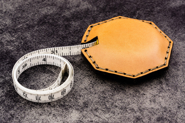 Leather Tape Measure Octagon - Galen Leather