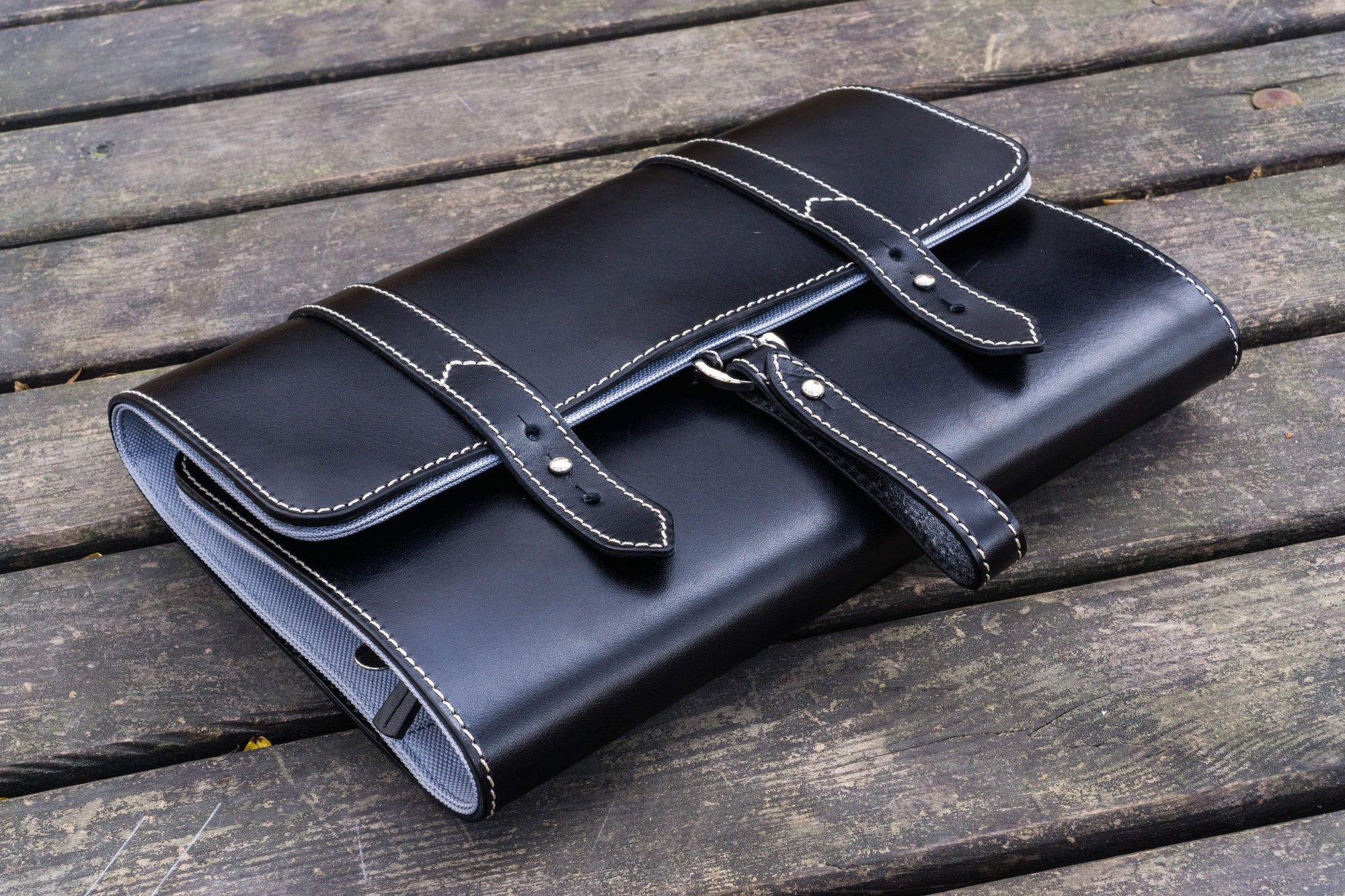 Leather Toiletry / Travel Bag - Black-Galen Leather