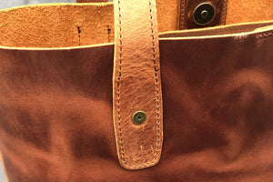 Leather Tote Bag - Crazy Horse Tan-Galen Leather