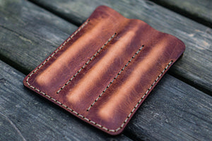 Leather Triple Fountain Pen Case / Pen Pouch - Crazy Horse Tan-Galen Leather