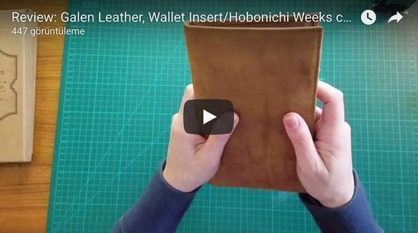 Leather Wallet Insert for Traveler's Notebook -Regular Size - Brown-Galen Leather