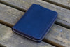 Leather Zippered 5 Slots Pen Case - Navy Blue-Galen Leather