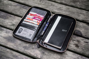 Leather Zippered Hobonichi Weeks Cover - Black-Galen Leather