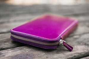 Leather Zippered Hobonichi Weeks Cover - Purple-Galen Leather
