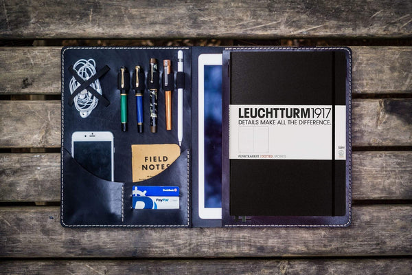 Leuchtturm1917 A4 - A4+ Leather Cover Portfolio - Black-Galen Leather