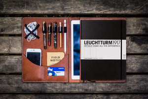 Leuchtturm1917 A4 - A4+ Leather Cover Portfolio - Brown-Galen Leather