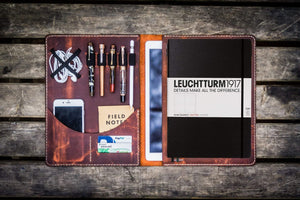 Leuchtturm1917 A4 - A4+ Leather Cover Portfolio - Crazy Horse Orange - GalenLeather - 1