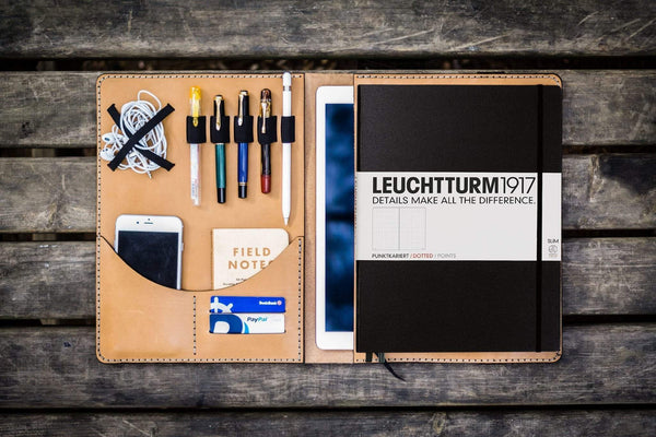 Leuchtturm1917 A4 - A4+ Leather Cover Portfolio - Natural-Galen Leather