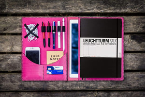 Leuchtturm1917 A4 - A4+ Leather Cover Portfolio - Pink - GalenLeather - 1