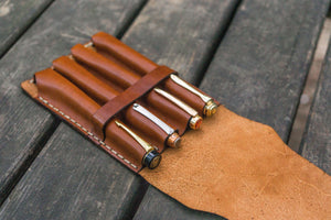 Major Leather Fountain Pen Case - Brown-Galen Leather