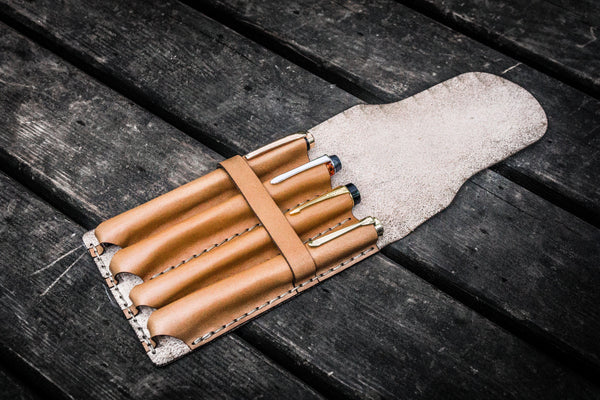 Major Leather Fountain Pen Case - Natural-Galen Leather
