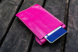 Major Leather Fountain Pen Case - Pink-Galen Leather