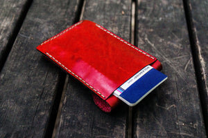 Major Leather Fountain Pen Case - Red-Galen Leather