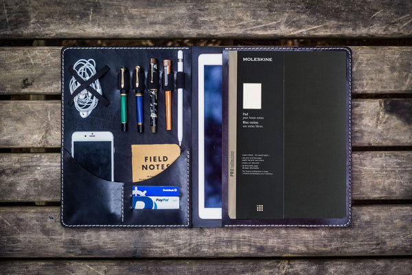 Moleskine Professional Workbook A4 Cover, Leather Compendium - Black-Galen Leather