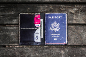 No.06 Leather Passport Holder - Black-Galen Leather