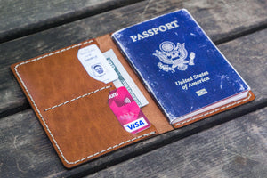 No.06 Leather Passport Holder - Chocolate Brown-Galen Leather
