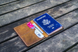 No.06 Leather Passport Holder - Crazy Horse Brown-Galen Leather