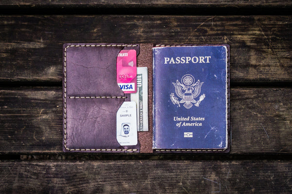 No.06 Leather Passport Holder - Dark Brown-Galen Leather