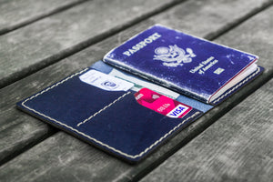 No.06 Leather Passport Holder - Navy Blue-Galen Leather