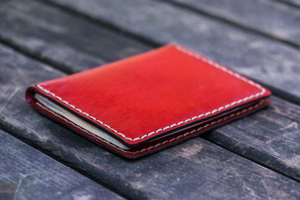 299697a9c32 No.06 Hand-Stitched Leather Passport Wallet - Red - Galen Leather