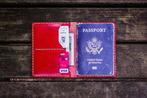 No.06 Leather Passport Holder - Red 2-Galen Leather
