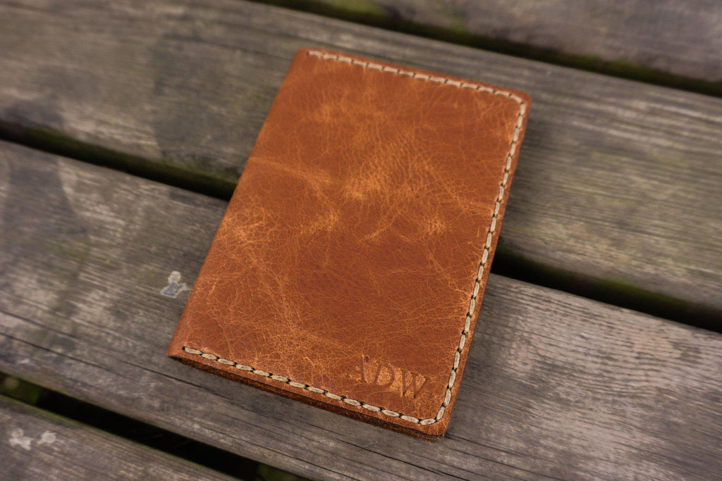 eae41dcb7a4 No.06 Hand-stitched Leather Passport Holder-Rustic Brown - GalenLeather - 5