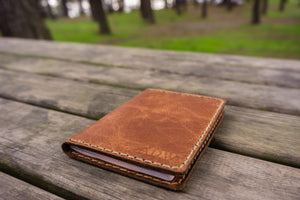 No.06 Hand-stitched Leather Passport Holder-Rustic Brown - GalenLeather - 6